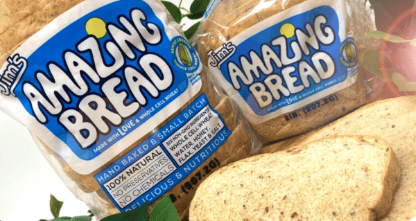 picture of jims amazing bread 6 pack of whole wheat bread